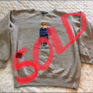 Ralph Lauren Polo Golf Teddy Sweatshirt Sz Large